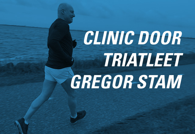 clinic door triatleet Gregor Stam